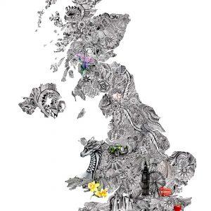 UK Doodle, Art by Samantha