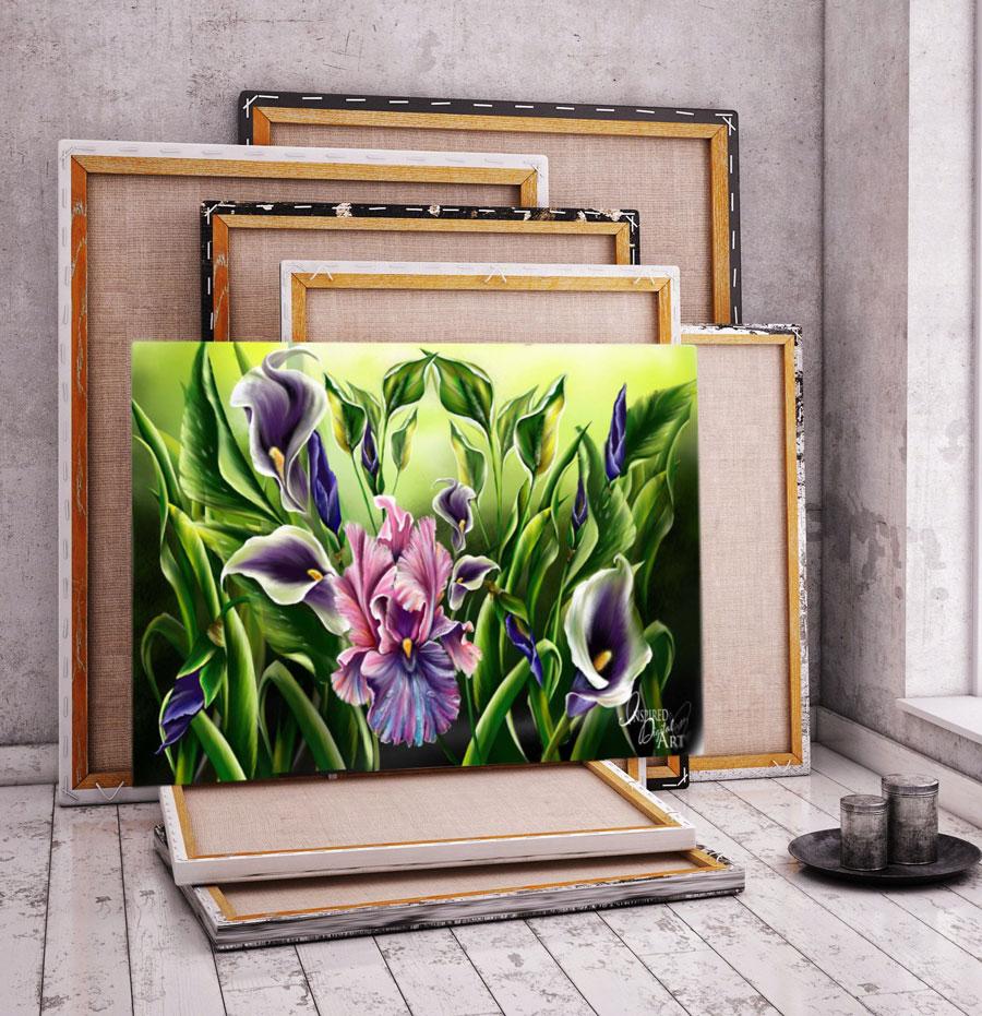 'Garden' Digital Art on canvas, Art by Samantha